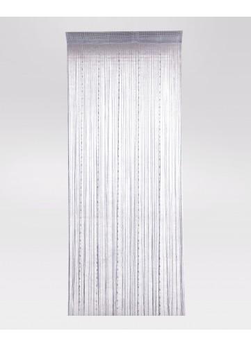 rideau fil gris