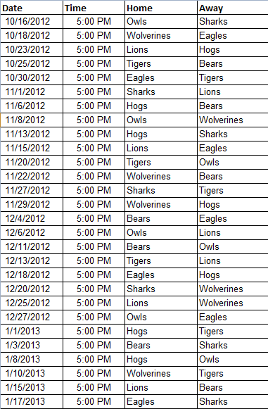 snack schedule template for football baseball snack schedule