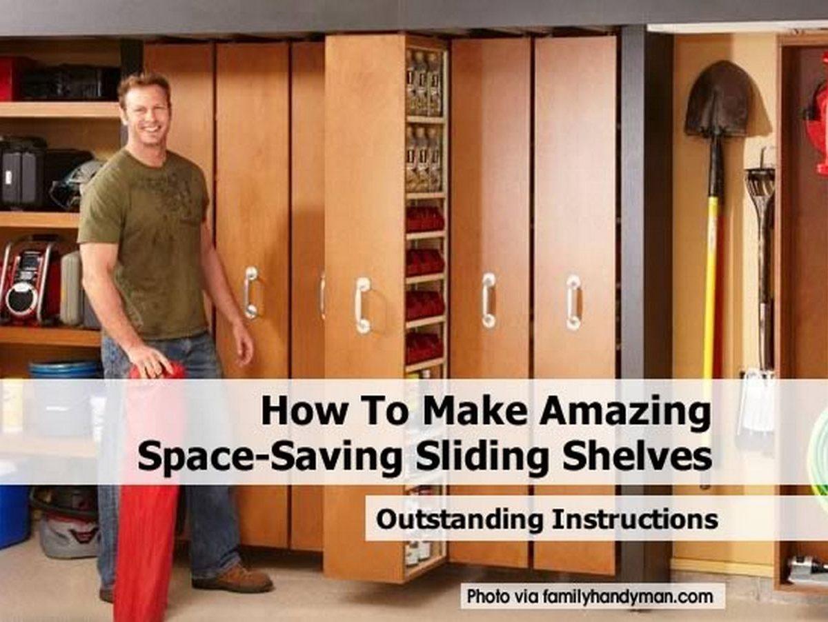 How To Make Amazing Space Saving Sliding Shelves