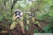 Soldati israelieni, antrenandu-se langa Haifa (ianuarie 2012)