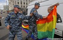 Parada gay neautorizata in Moscova (mai 2012)