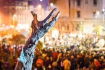 Protest dupa incendiul din clubul Colectiv