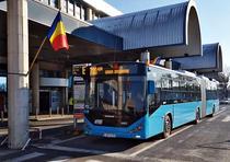 Autobuz articulat la Aeroportul Otopeni
