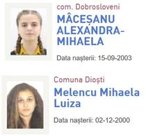 Alexandra si Luiza, la copii disparuti