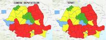 Noua harta politica a Romaniai - rezultate alegeri parlamentare 2020 pe judete