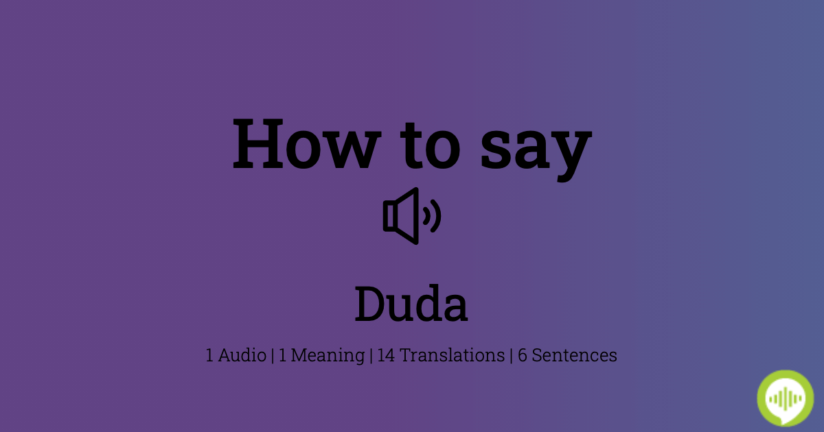 Duda Meaning In Malay
