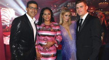 Sindika Dokolo, Isabel dos Santos, Paris Hilton and Chris Zylka