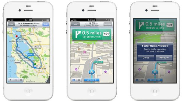 iOS 6 Maps turn by turn teaser Iphone 4s Animated Wallpaper