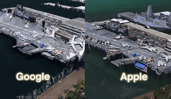 Apple s 3D maps look much better than Google s Google