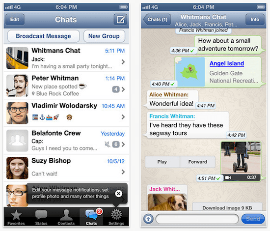 whatsapp iphone screenshot