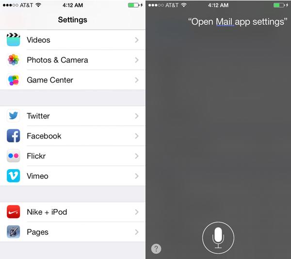 siri app settings