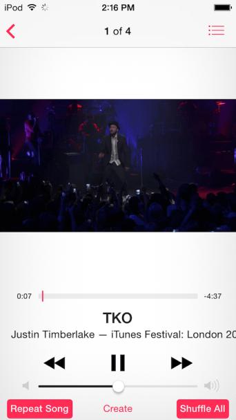 aplikacja Muzyka w iOS 7.1 beta 3