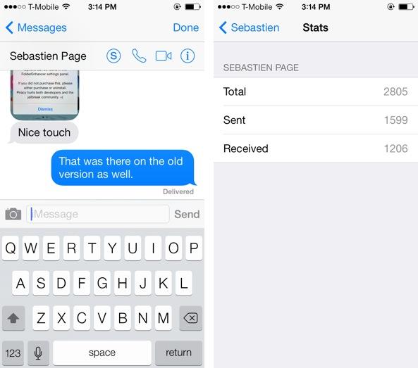 Estadísticas SMS Sebastien
