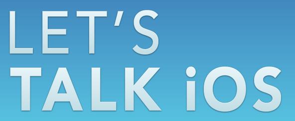 Let's Talk iOS banner