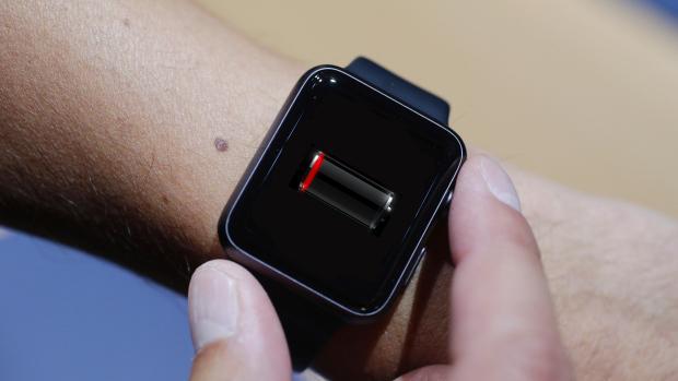 Apple Watch battery empty