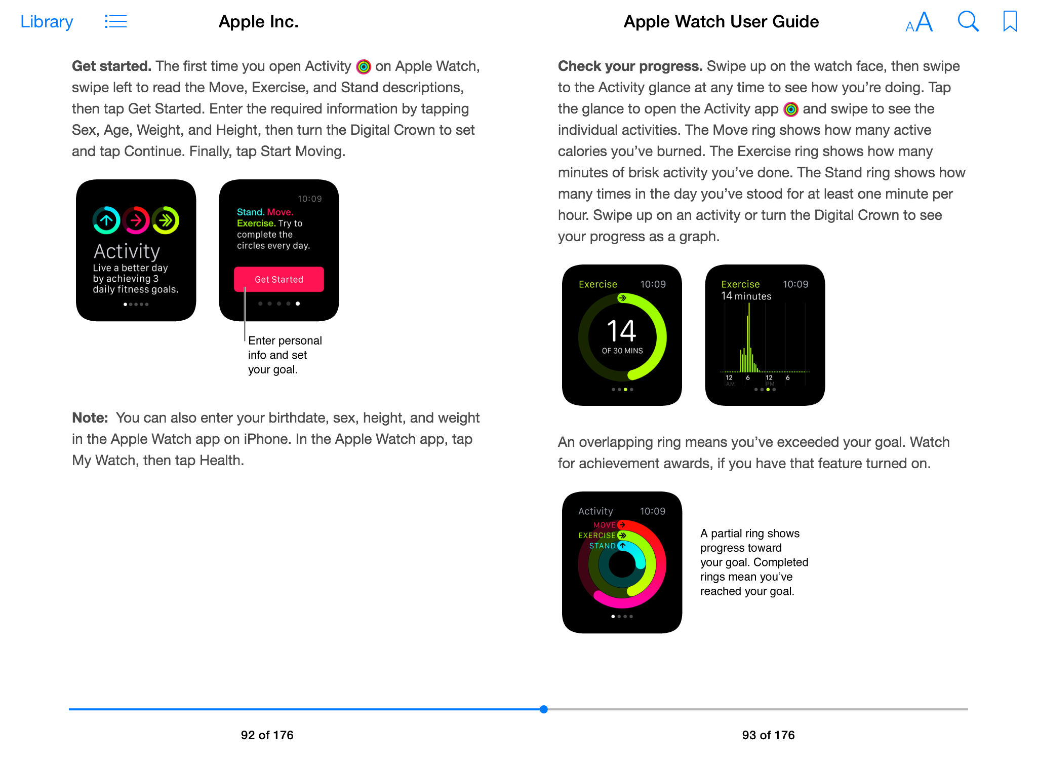 Apple Seguir Guía del usuario iBook pantalla 005