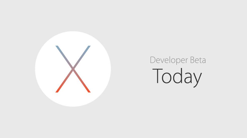 OS X El Capitan Beta today