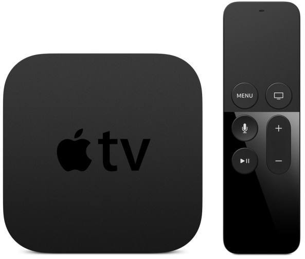 Apple TV 4 top view remote