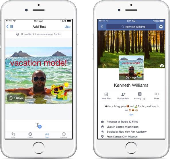 Facebook mobile profile changes iPhone screenshot 002