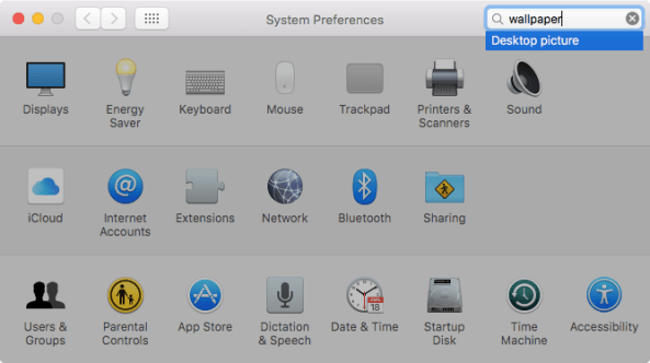 OS X El Capitan System Preferences search Mac screenshot 005