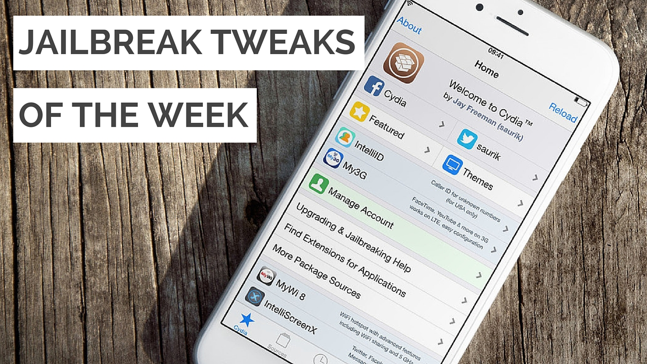 jailbreak tweaks of the week cydia wood