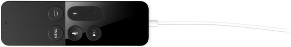 Apple TV fourth generation Siri Remote charging image 001