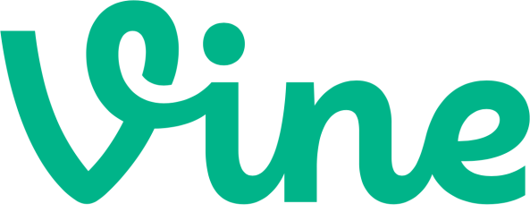 Vine logo green medium