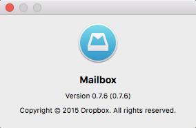 Mailbox for OS X About window Mac screenshot 001