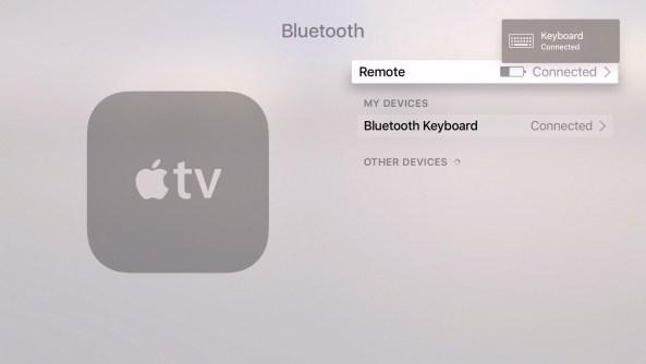 tvOS 9.2 beta 1 Bluetooth Keyboard