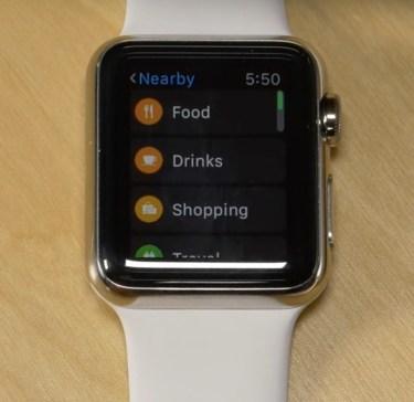 watchOS 2.2 Maps Apple Watch screenshot 003
