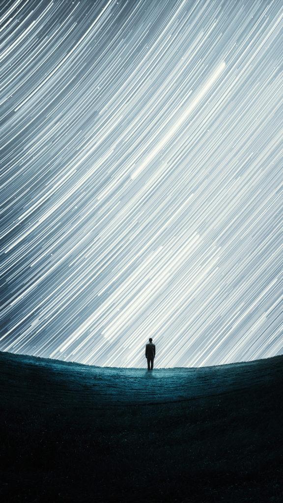 iPhone wallpaper abstract portrait stars macinmac