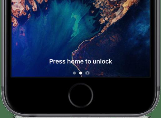 iOS 10 Khóa màn hình Press nhà để mở khóa hình ảnh 003