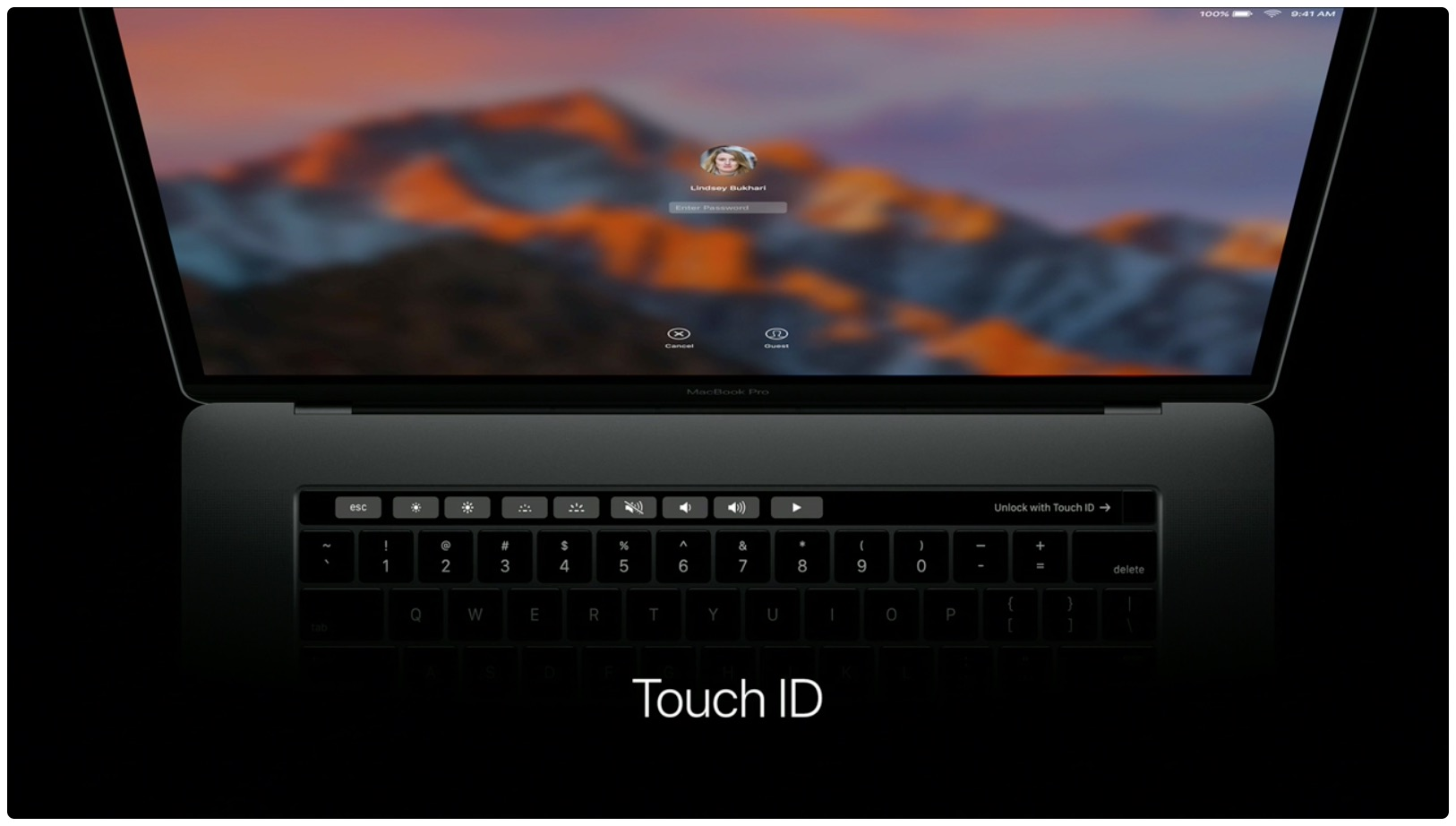 hello again event macbook pro touch id