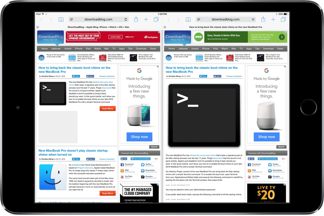 How To View Two Tabs At The Same Time In Safari On Ipad