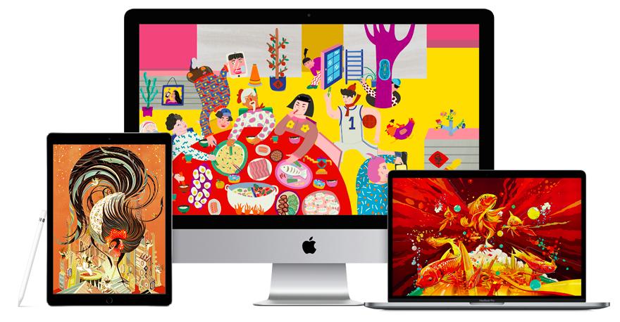 CNY Apple Wallpaper splash