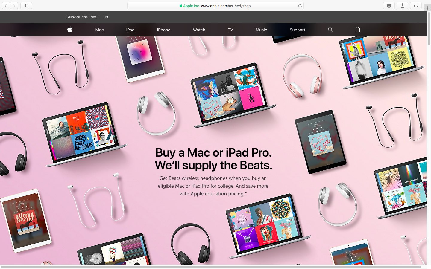 Apple Unveils Back To School Deals Free Beats With