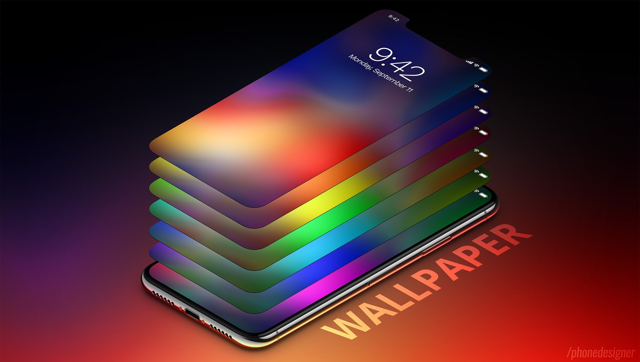 iPhone X inspired wallpaper pack     as the iPhone X pre order date comes in just 33 days  On October 27   pre orders will open with initial deliveries on November 3  The Wallpapers  of the
