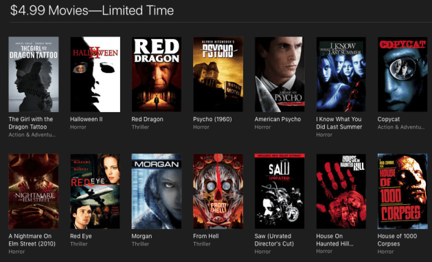$5 Halloween hits and other movies on sale in iTunes right now ...