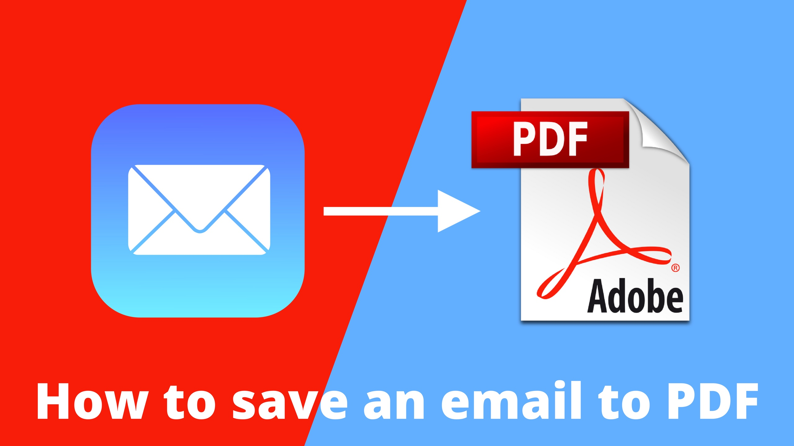 How to save an email to PDF