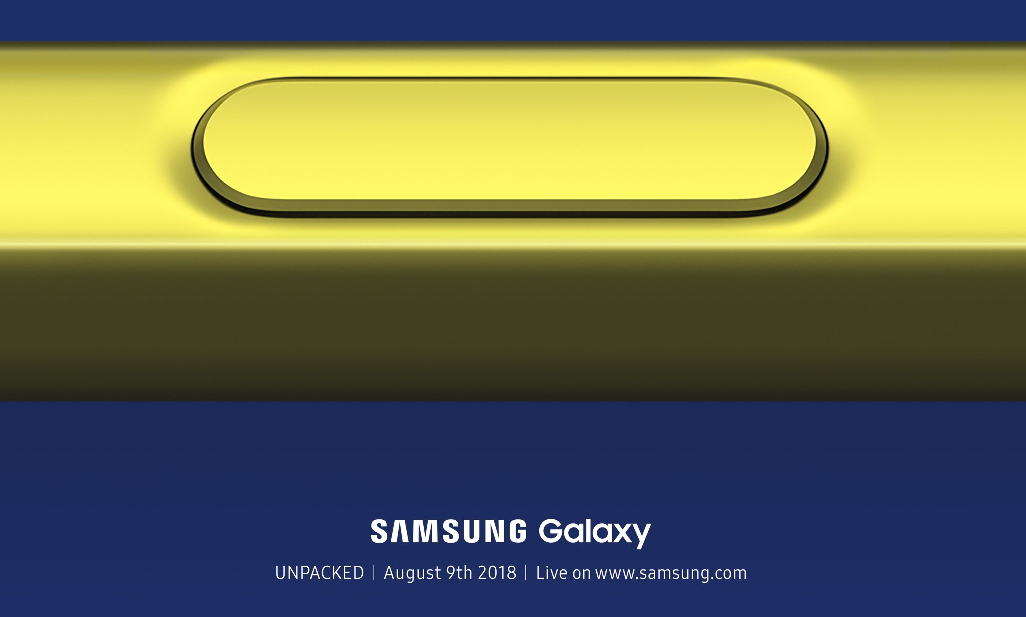 Samsung's invitation for the August 9 event