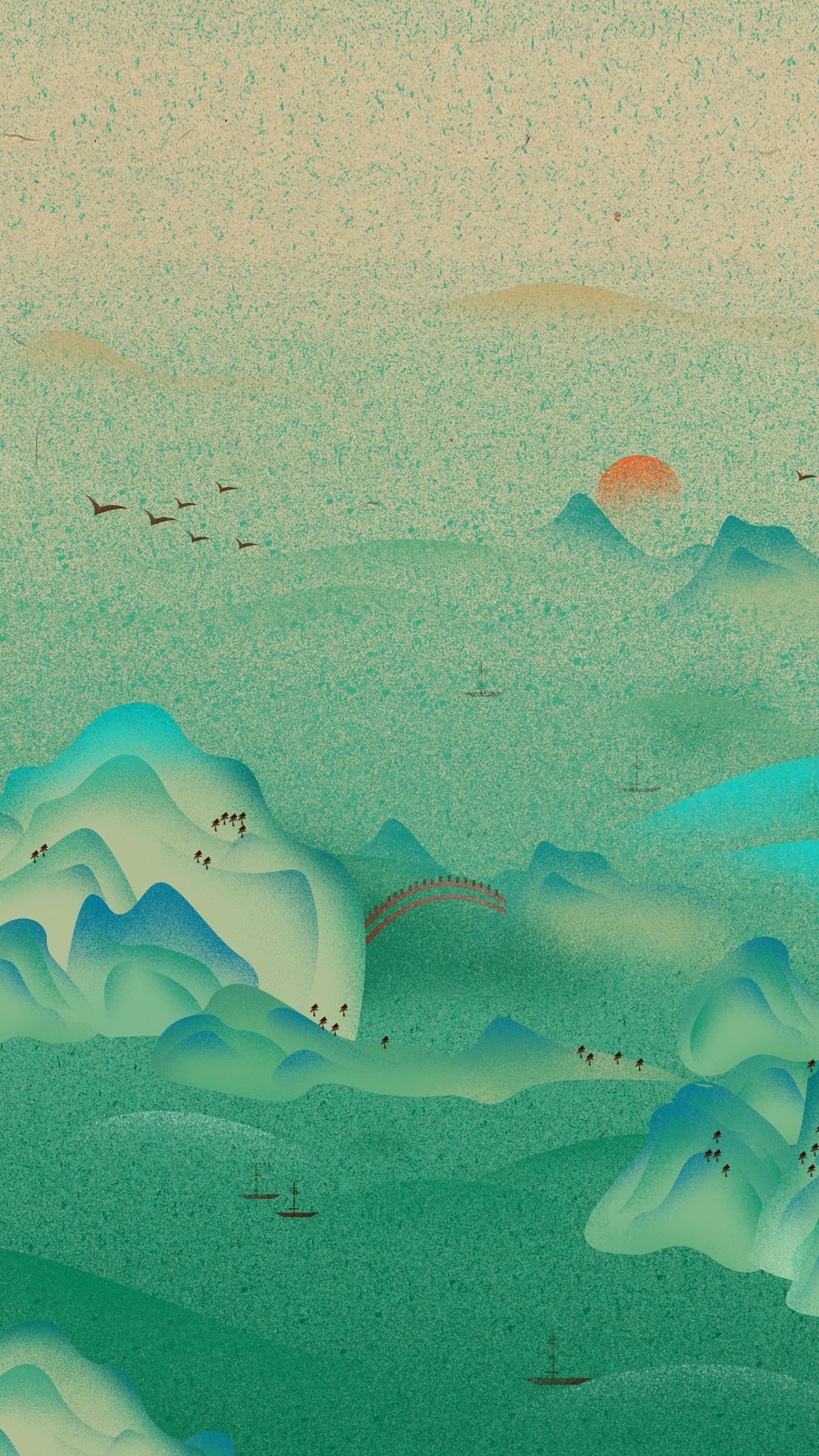 Simple Landscape Cartoon