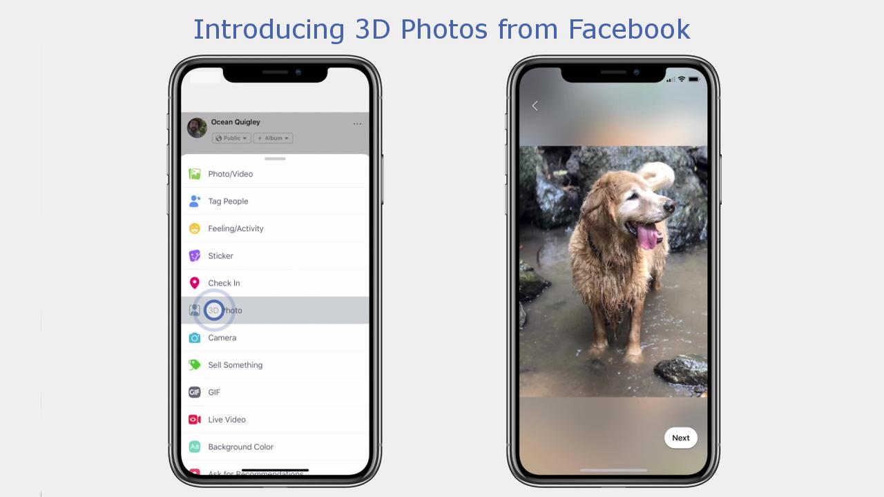 Facebook 3D photos - hero image