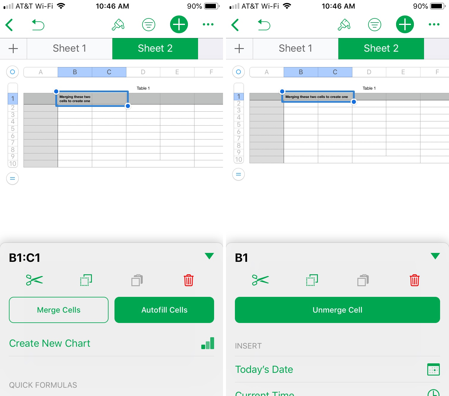 How To Merge Cells In Numbers On Mac And Ios