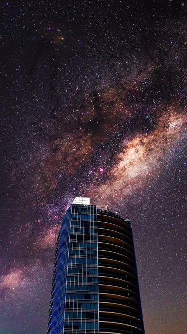 building galaxy city wallpaper JLF 7