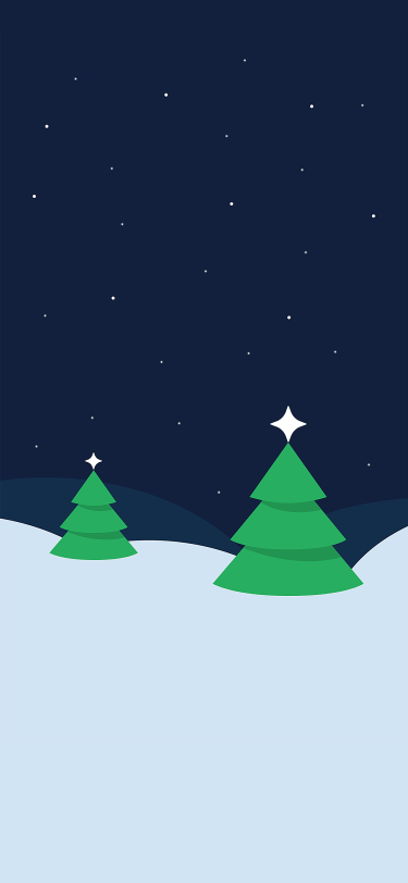 Christmas tree field snow iPhone wallpaper