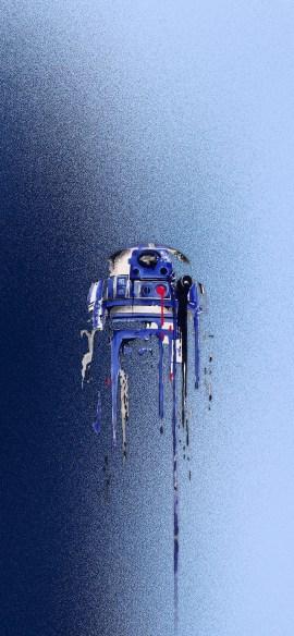 R2d2 star wars iphone X wallpaper by iamjoeya