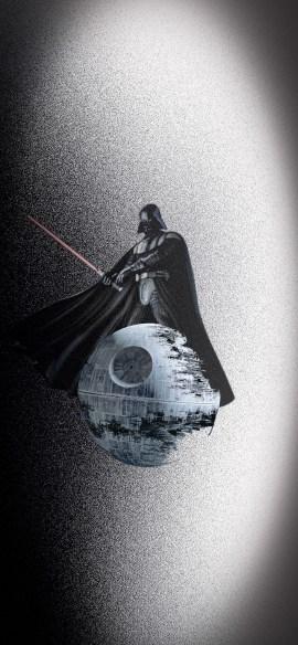 darth vader light saber star wars iphone X wallpaper by iamjoeya