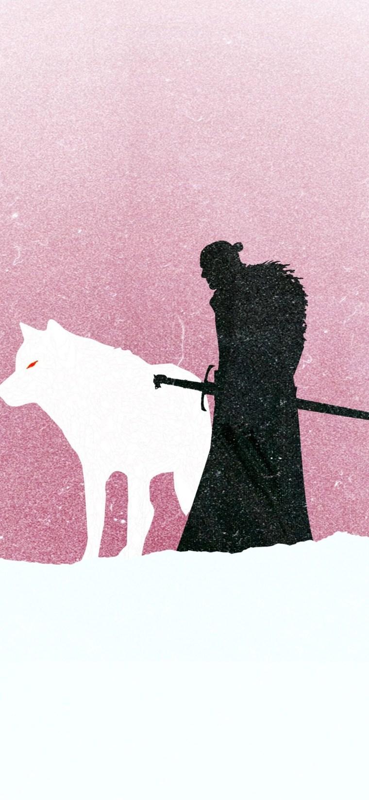 jon-snow-game-of-thrones-minimalism iPhone game of thrones wallpaper