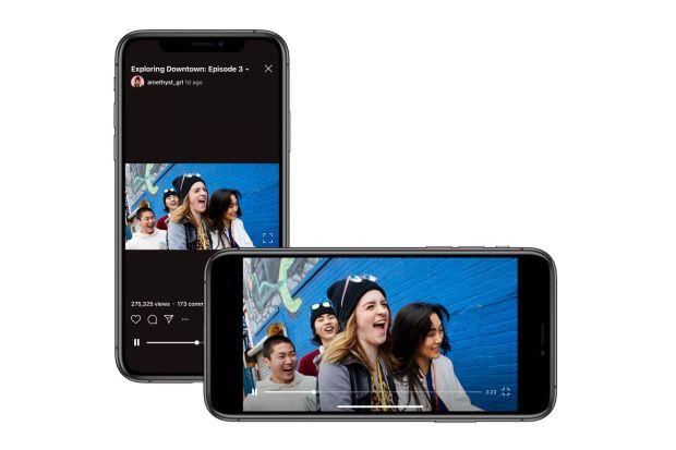 Instagram's IGTV is gaining support for landscape video