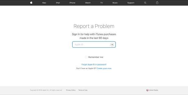 Log In Report a Problem Website
